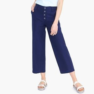 J. Crew wide leg button front club cotton pants